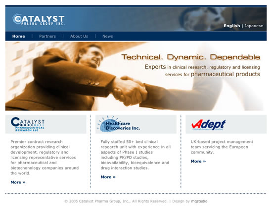Catalyst Pharma Group Web Templates: Home page